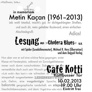in memoriam Metin Kacan
